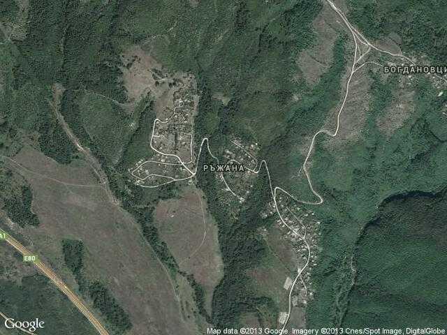 Сателитна карта на Ръжана