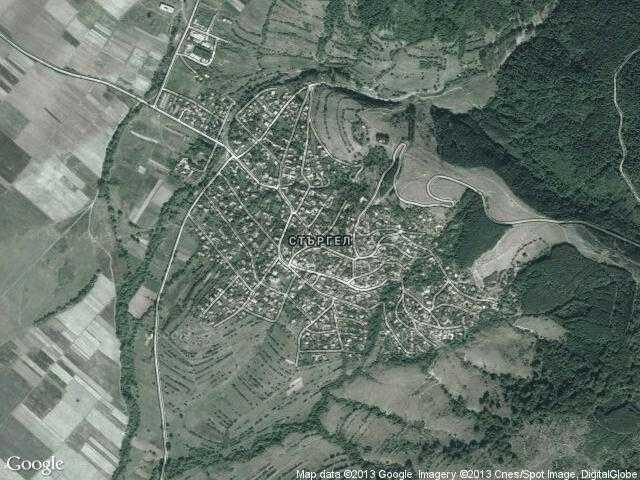 Сателитна карта на Стъргел