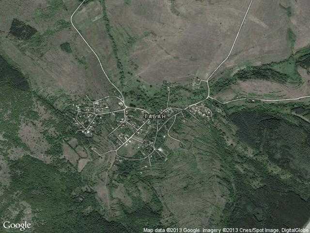 Сателитна карта на Табан