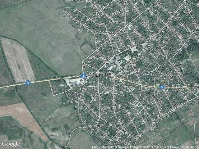 Сателитна карта на Трудовец