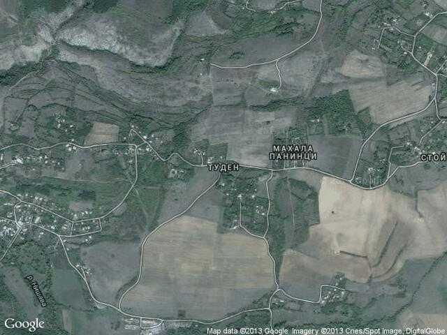 Сателитна карта на Туден
