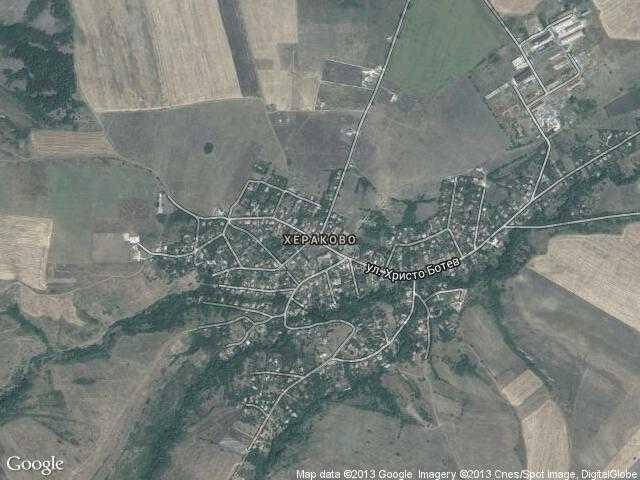Сателитна карта на Хераково