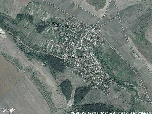 Сателитна карта на Чеканчево