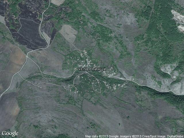 Сателитна карта на Чепърлинци