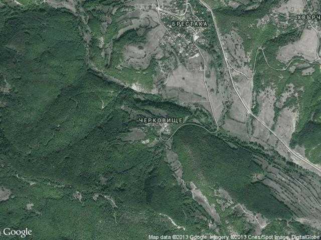 Сателитна карта на Черковище