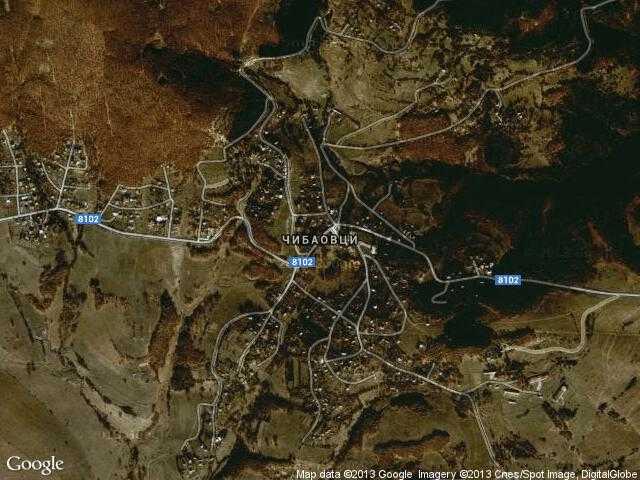 Сателитна карта на Чибаовци