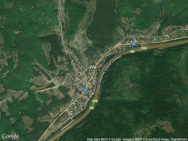 Сателитна карта на Чурек
