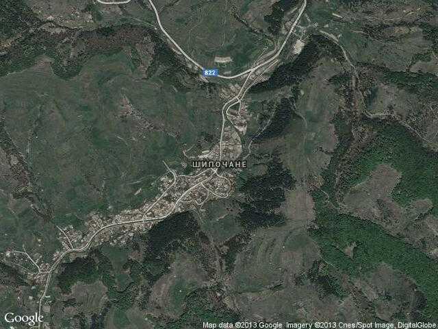Сателитна карта на Шипочане