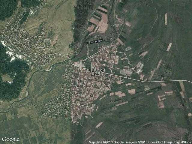 Сателитна карта на Широки дол