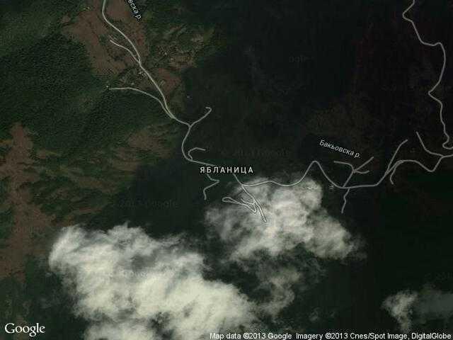 Сателитна карта на Ябланица
