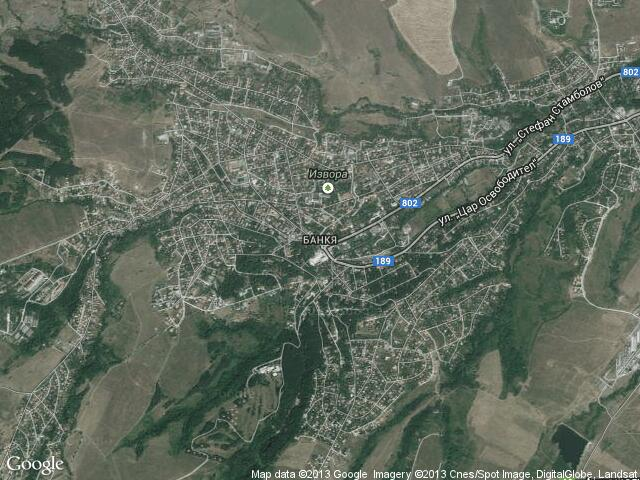 Сателитна карта на Банкя
