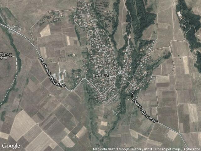 Сателитна карта на Балша