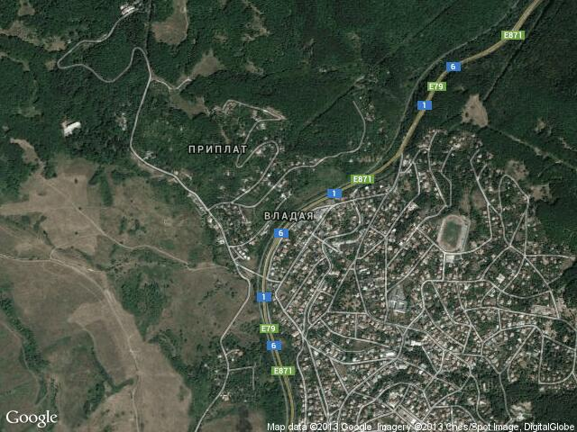 Сателитна карта на Владая