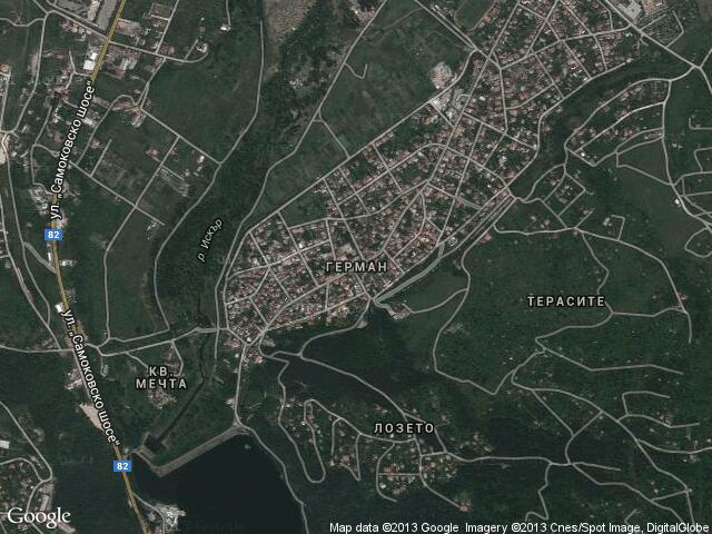 Сателитна карта на Герман
