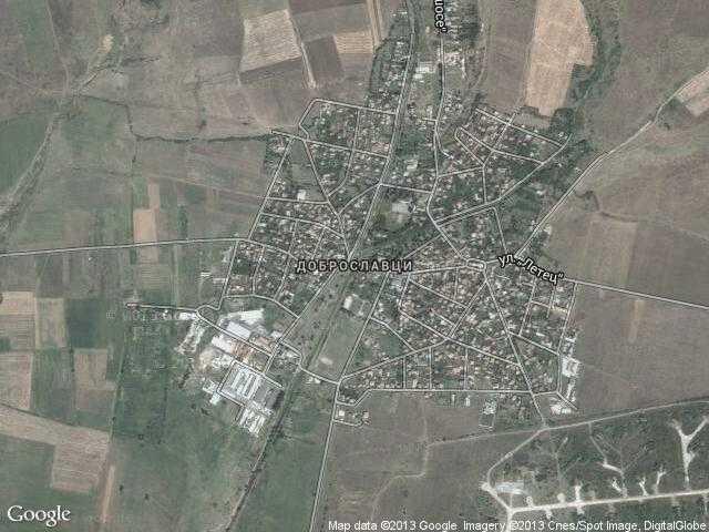 Сателитна карта на Доброславци