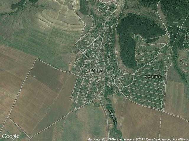 Сателитна карта на Желява