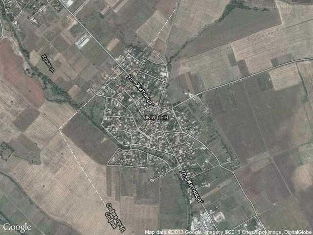 Сателитна карта на Житен
