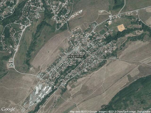 Сателитна карта на Иваняне