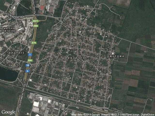 Сателитна карта на Казичене