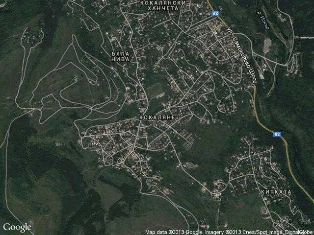 Сателитна карта на Кокаляне