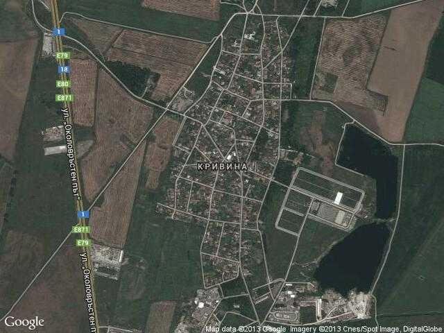 Сателитна карта на Кривина