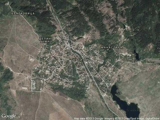 Сателитна карта на Кътина