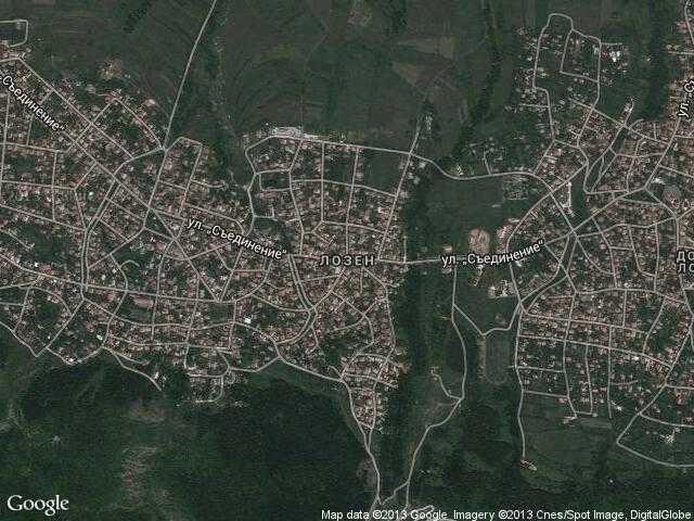 Сателитна карта на Лозен