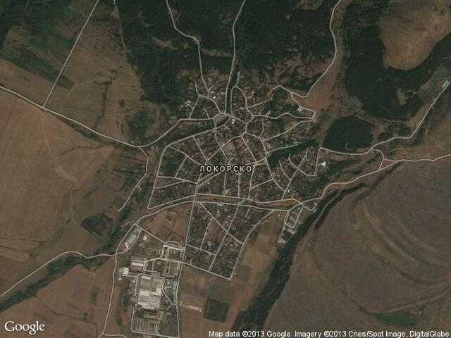Сателитна карта на Локорско