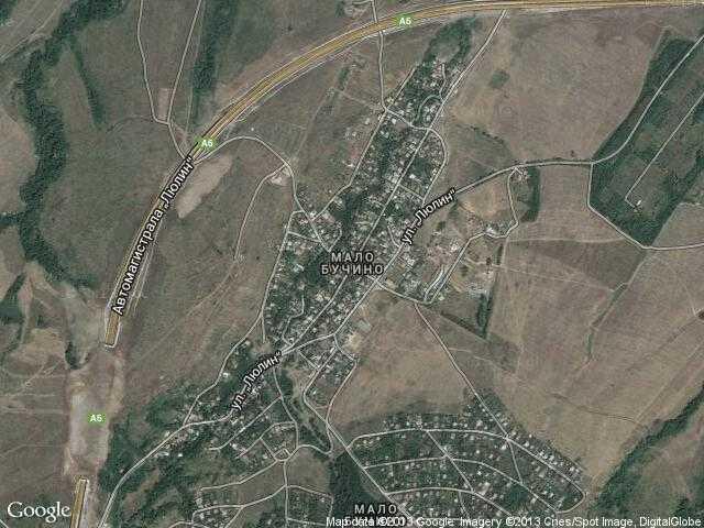 Сателитна карта на Мало Бучино
