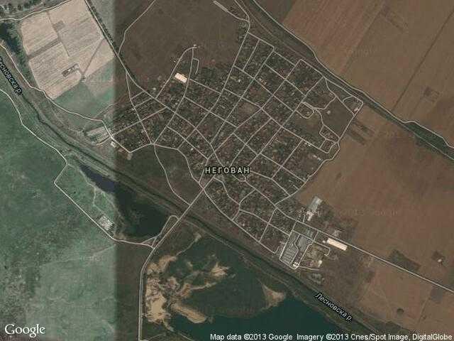 Сателитна карта на Негован