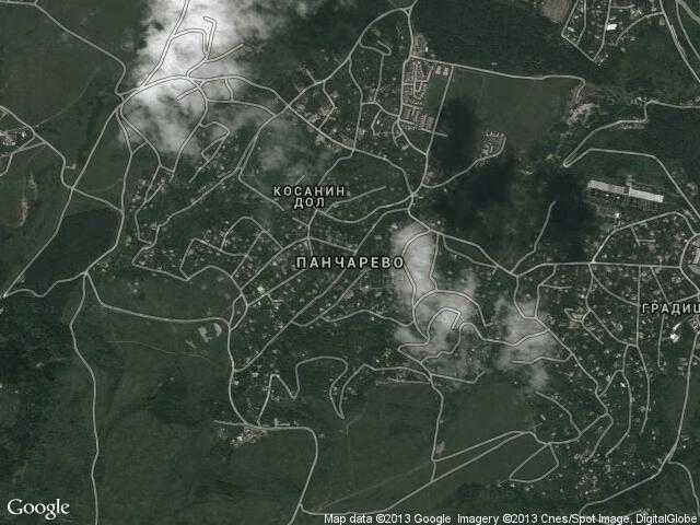 Сателитна карта на Панчарево