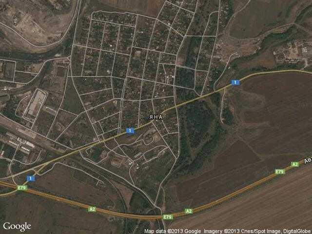 Сателитна карта на Яна