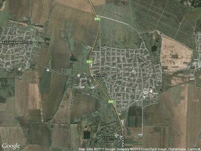 Сателитна карта на Крън