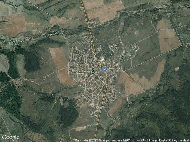 Сателитна карта на Павел баня