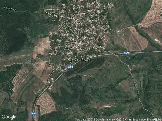 Сателитна карта на Борилово