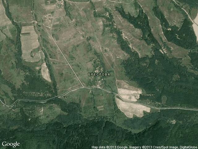 Сателитна карта на Брестова