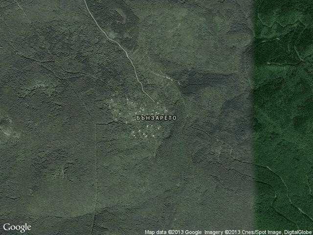Сателитна карта на Бънзарето