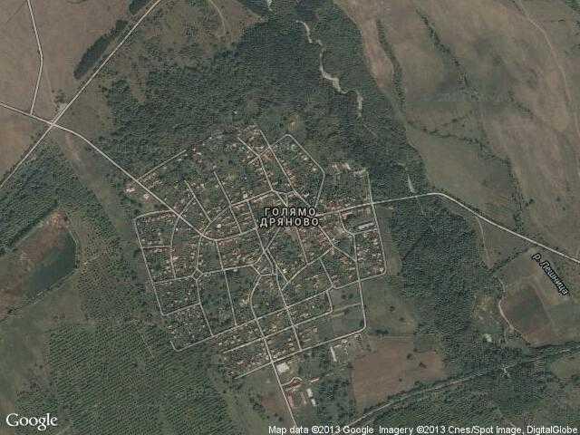 Сателитна карта на Голямо Дряново