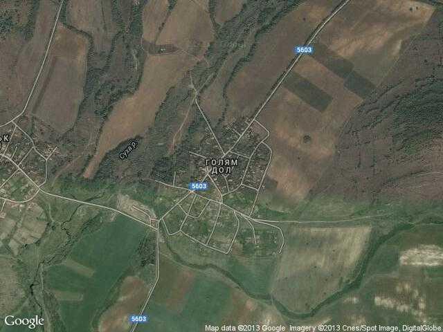 Сателитна карта на Голям дол