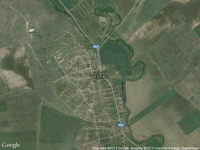 Сателитна карта на Горно Белево