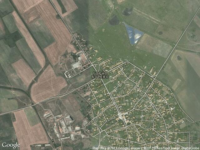 Сателитна карта на Горно Ботево
