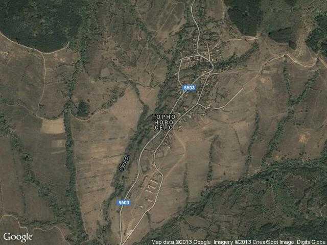 Сателитна карта на Горно ново село
