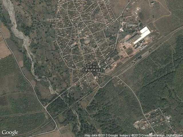 Сателитна карта на Горно Сахране