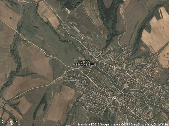 Сателитна карта на Горно Черковище