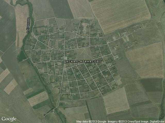 Сателитна карта на Даскал-Атанасово