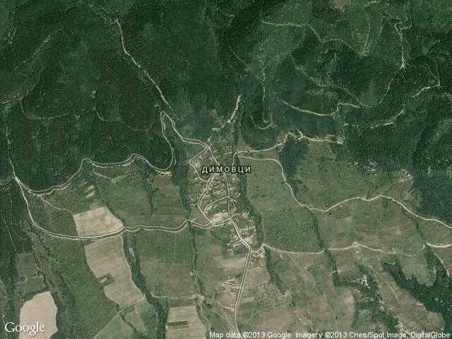 Сателитна карта на Димовци