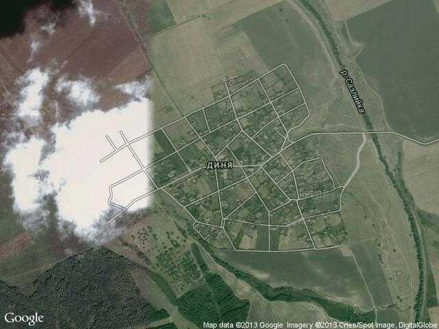 Сателитна карта на Диня