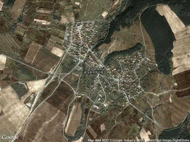 Сателитна карта на Долно изворово