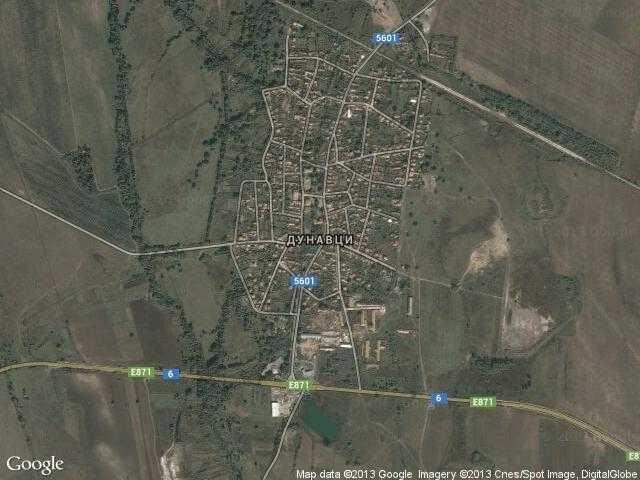 Сателитна карта на Дунавци