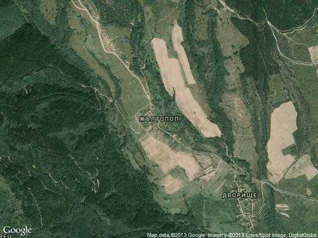 Сателитна карта на Жълтопоп